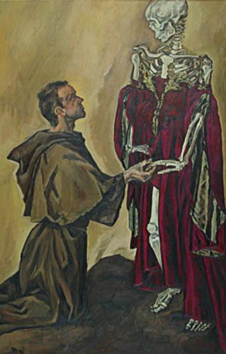 Rranziskus-Hochzeit mit der Armut, 170x110, 2006