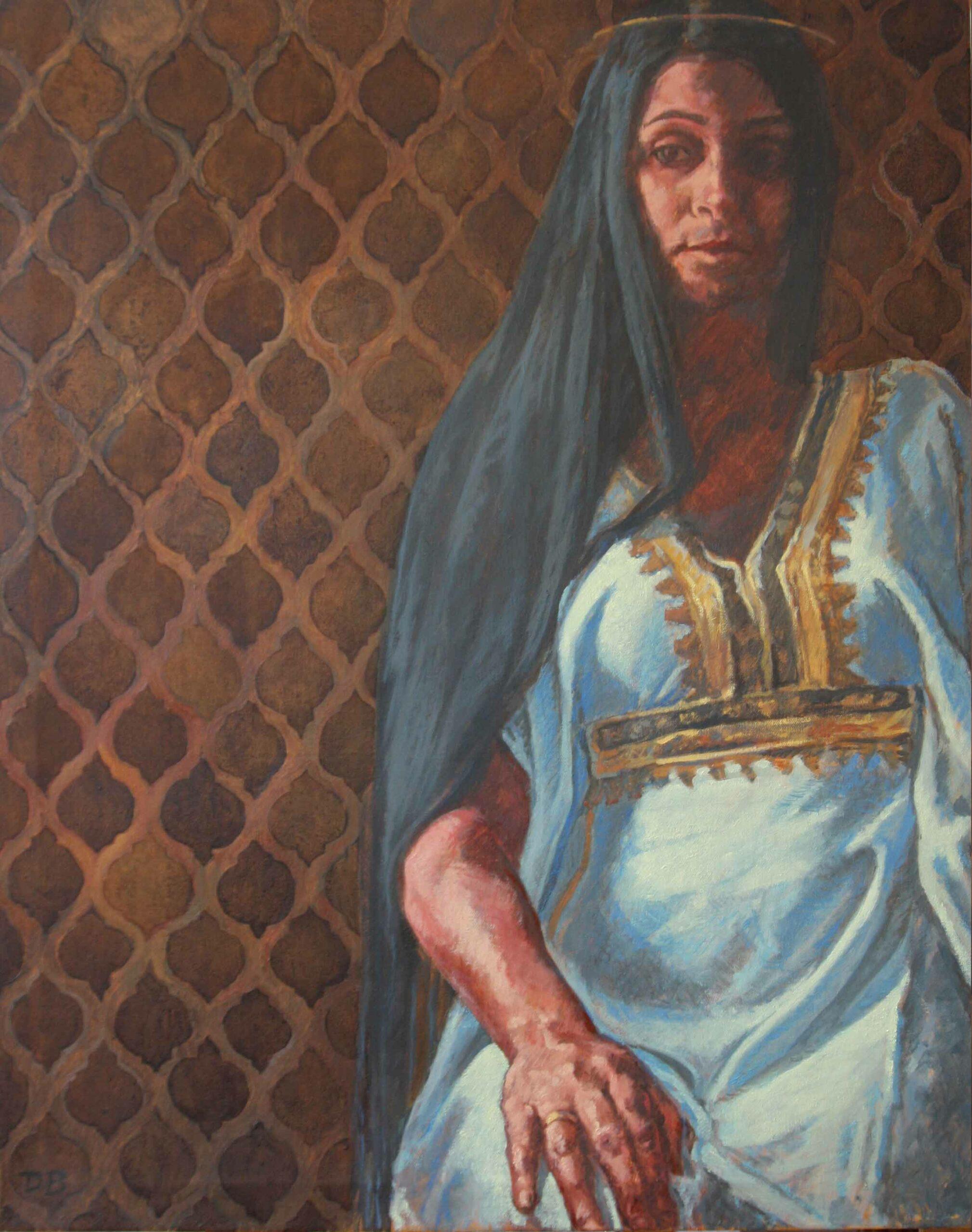 Eine tunesische Frau, 100x80, 2019