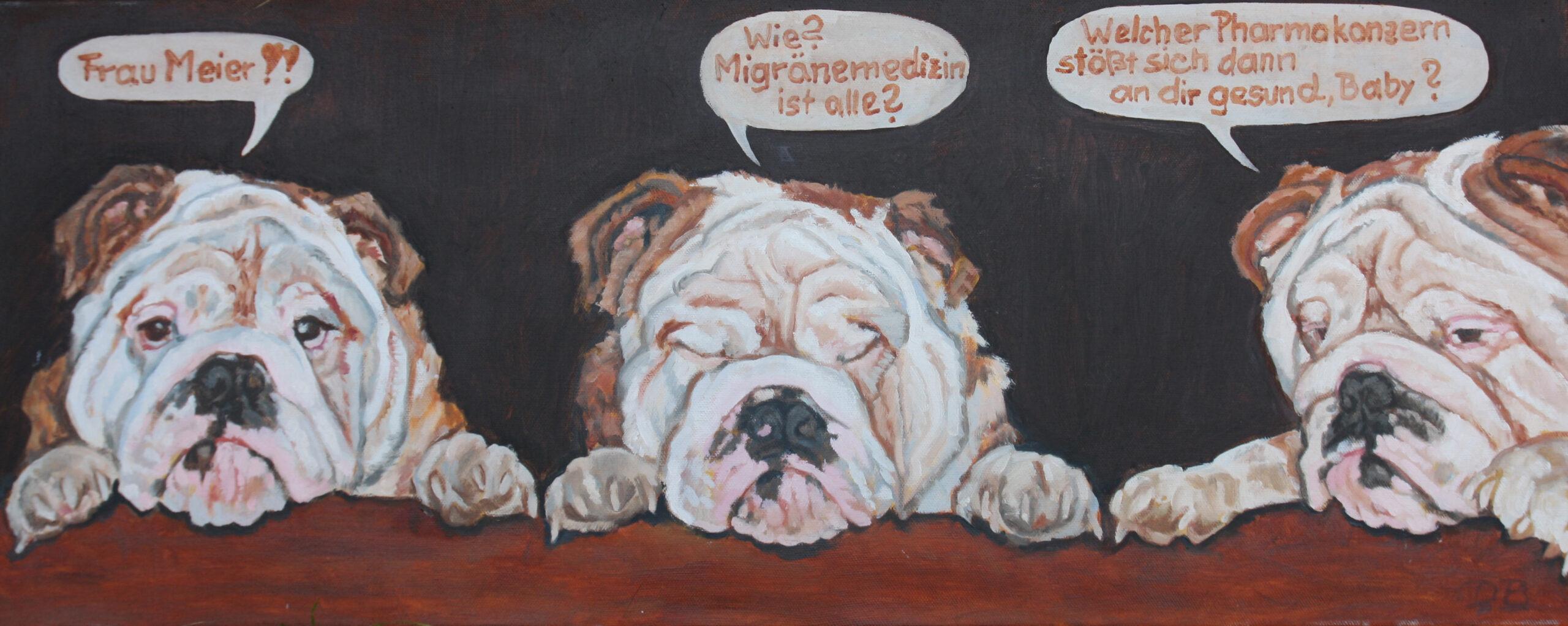 Pech gehabt Moppi!, 40x80, 2014