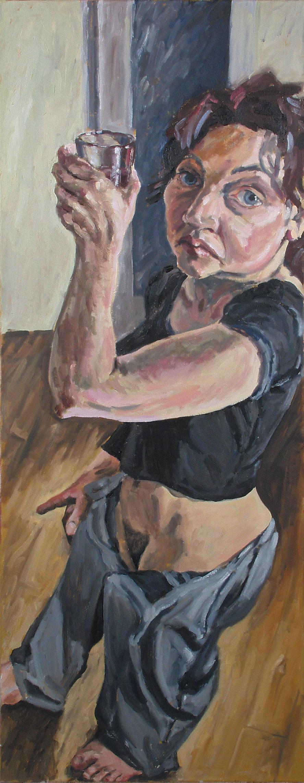 Trinkerin, 150x60, 2003