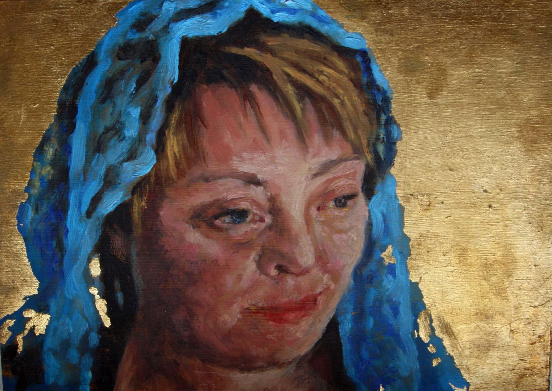 Andrea-Maria, 15x21, öl auf Holz, 2011