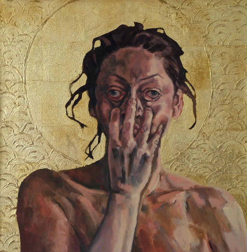 Das Martyrium der heiligen Lucia, 50x50, 2007
