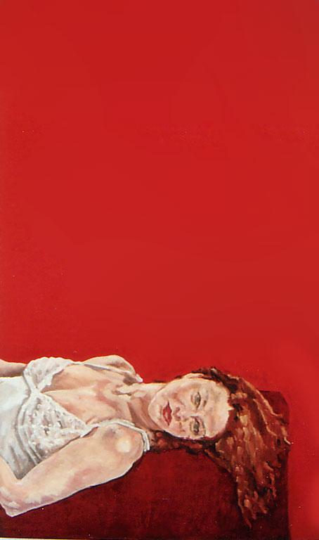 Kirsten, ein Wirbelwind im März, 150x90, 2008